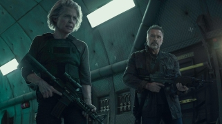 """Linda Hamilton, left, and Arnold Schwarzenegger star in Skydance Productions and Paramount Pictures' """"TERMINATOR: DARK FATE."""""""